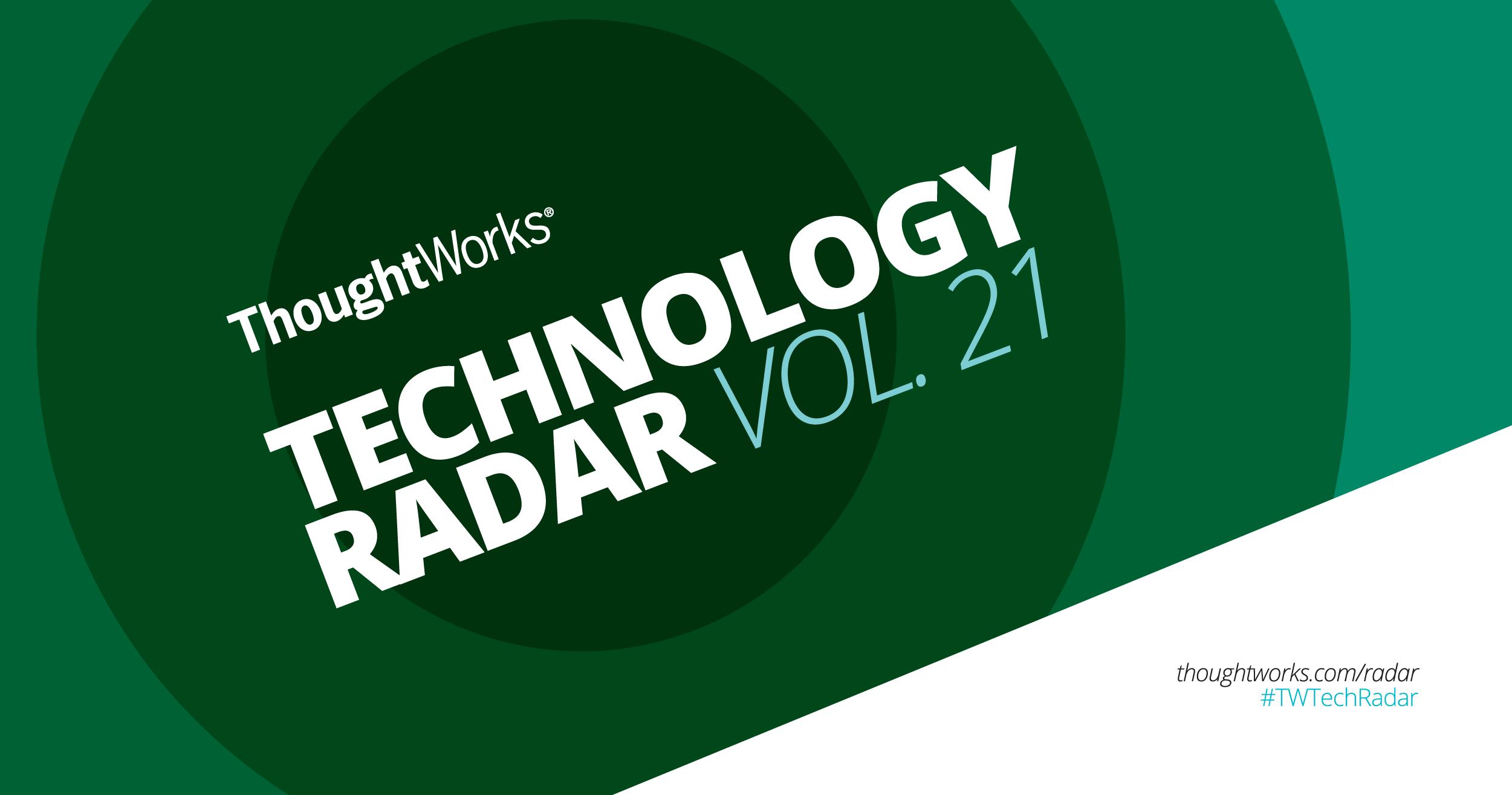 A-Z | Technology Radar | ThoughtWorks