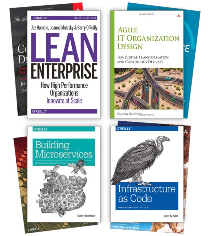 We've written the book on Infrastructure as Code, Microservices, Lean Enterprise, Agile IT Org Design and more